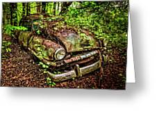 Rusty Plymouth Greeting Card