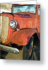 Rusty Red Chevrolet Pickup Truck 1934 Greeting Card