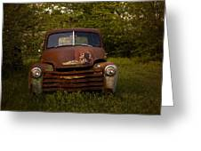 Rusty Red Chevy Greeting Card