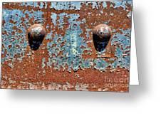 Rusty Rivets Greeting Card