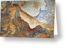 Rusty Rock Colours Greeting Card