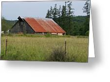 Rusty Roofed Barn    Washington State Greeting Card