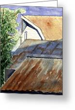 Rusty Roofs Greeting Card