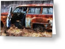 Rusty Station Wagon Greeting Card by Ken Barrett