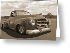 Rusty Studebaker In Sepia Greeting Card