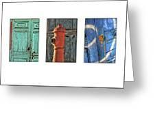 Rusty Triptych Greeting Card