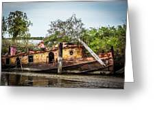 Rusty Tug Greeting Card