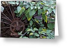 Rusty Wheel Greeting Card