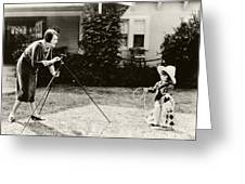 Ruth Roland Photographing A Doll 1925 Greeting Card