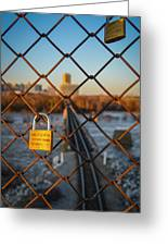 Rva Lock Bridge Greeting Card