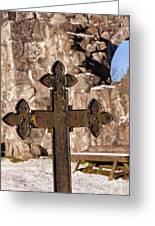 Rya Chapel Grave Marker Greeting Card