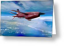 Ryan Bqm-34 Firebee Target Drone Missile Greeting Card