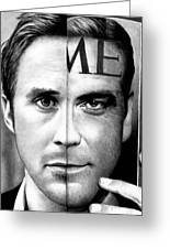 Ryan Gosling And George Clooney Greeting Card