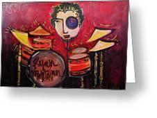 Ryan Macmillan And His Drums Greeting Card
