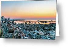 Rye, New Hampshire Sunrise Cairns Greeting Card