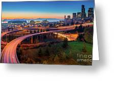 S For Seattle Greeting Card