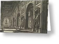 S. Giovanni In Laterano. Interior Greeting Card