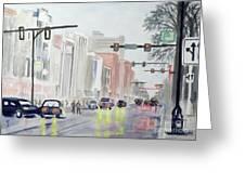 S. Main Street In Ann Arbor Michigan Greeting Card