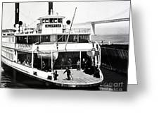 S. P. Ferry Alameda At San Francisco Circa 1940 Greeting Card