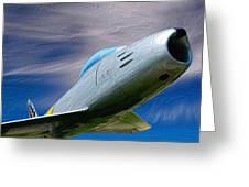 Saber Jet Greeting Card
