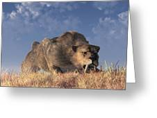 Saber-toothed Hunter Greeting Card