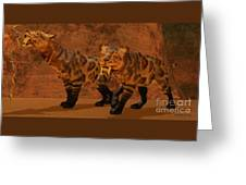 Saber-toothed Tiger Cave Greeting Card