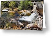 Sabino Creek Falls Greeting Card