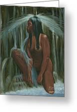 Sacagawea In The Water Cave Greeting Card