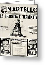 Sacco And Vanzetti Front Page Greeting Card