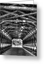 Sachs Bridge - Gettysburg - Bw-hdr Greeting Card