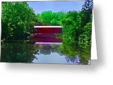 Sachs Covered Bridge - Gettysburg Pa Greeting Card