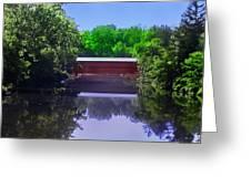 Sachs Covered Bridge In Gettysburg  Greeting Card