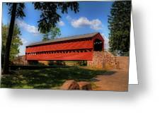 Sach's Covered Bridge Greeting Card by Lois Bryan