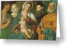 Sacra Conversazione 1520 Greeting Card