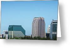 Sacramento California Cityscape Skyline On Sunny Day Greeting Card