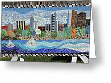 Sacramento City Skyline Mosaic Greeting Card