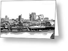 Sacramento Skyline N. Greeting Card