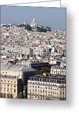 Sacre Coeur At The Summit Of Montmartre Paris Greeting Card