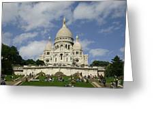 Sacre Coeur  Paris France Greeting Card