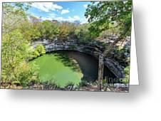 Sacred Cenote In Chichen Itza Greeting Card