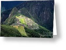 Sacred City Of Machu Picchu Greeting Card