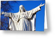 Sacred Heart Statue Greeting Card