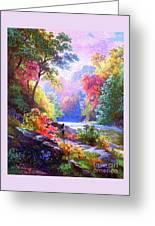 Sacred Landscape Meditation Greeting Card