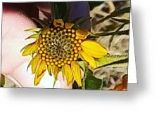 Sacred Sunflower Greeting Card