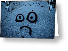 Sad Graffiti Greeting Card