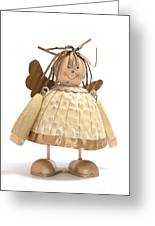Sad Little Angel Greeting Card by Andy Smy