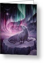 Sad Lonely Seal Greeting Card