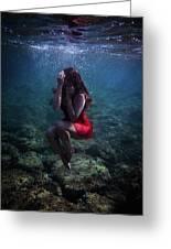 Sad Mermaid Greeting Card