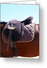 Saddle In  Greeting Card