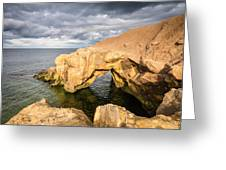Saddle Rocks At High Tide Greeting Card
